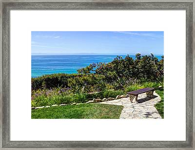 Sit And Stay A While Framed Print
