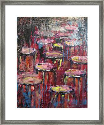 Sit And Stay A While Framed Print by Lucy Matta