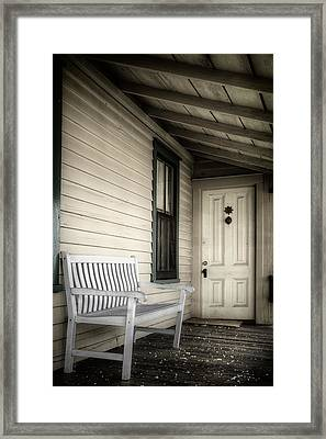 Sit Awhile Framed Print by Joan Carroll