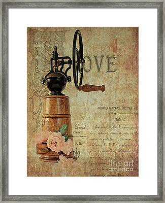 Sit Back And Smell The Roses. Framed Print by ShabbyChic fine art Photography