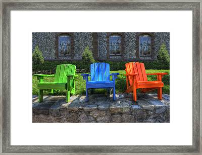 Sit Back Framed Print