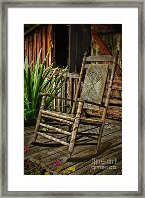 Sit Down And Stay A Spell Framed Print