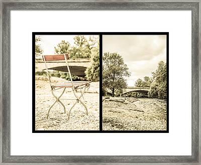 Sit Down... Black Framed Print by Hannes Cmarits