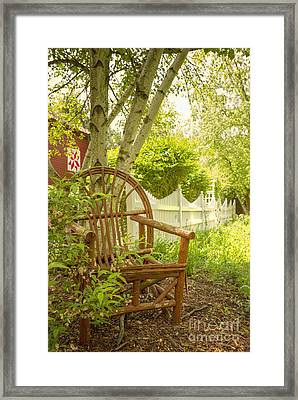 Sit For A While Framed Print by Margie Hurwich