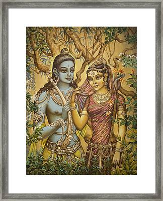 Sita And Ram Framed Print by Vrindavan Das