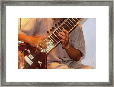 Sitar Player, Varanasi, India Framed Print by Ali Kabas