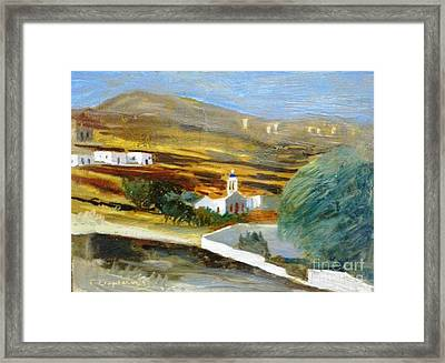 Site From Tinos Island Framed Print