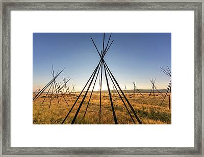Site Of Chief Joseph Of The Nez Perce Framed Print by Chuck Haney