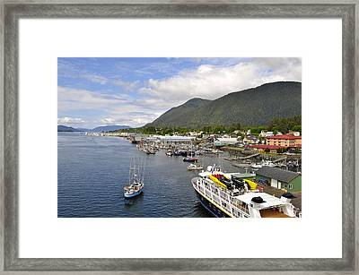 Sitka Channel Framed Print by Cathy Mahnke
