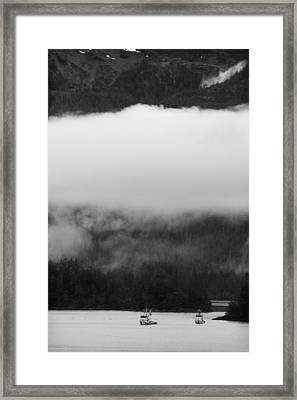 Sitka Fishing Boats Framed Print by Carol Leigh
