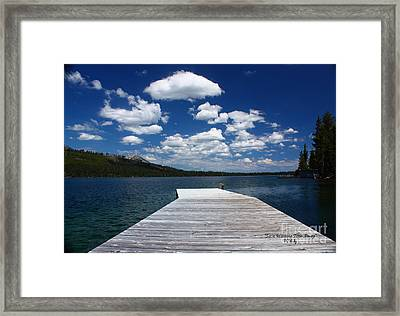Sit'n Wasting Time Away Framed Print