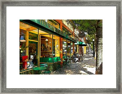 Sitting At The Bakery Framed Print by James Eddy