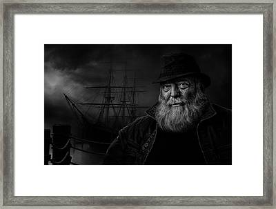 Sitting At The Dock Of The Bay Framed Print