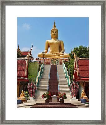 Sitting Buddha Framed Print
