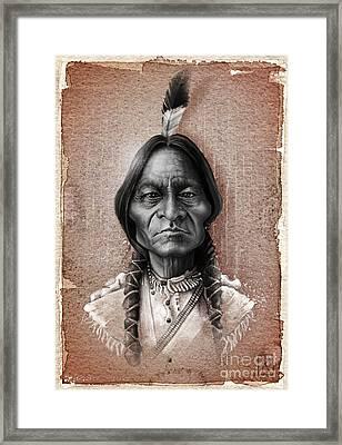 Sitting Bull Framed Print by Andre Koekemoer