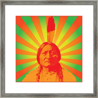 Sitting Bull Framed Print by Gary Grayson