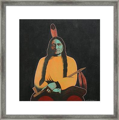 Sitting Bull Framed Print by J W Kelly