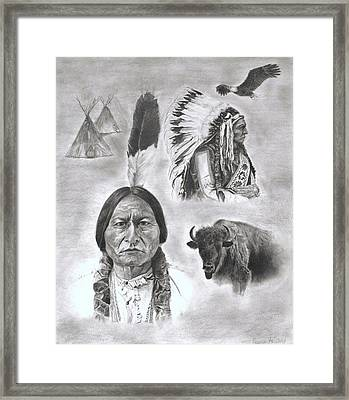 Sitting Bull Framed Print by Jessica Hallberg