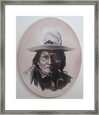 Framed Print featuring the painting Sitting Bull by Michael  TMAD Finney