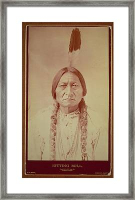 Sitting Bull, Sioux Chief, C.1885 Bw Photo Framed Print