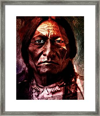 Sitting Bull - Warrior - Medicine Man Framed Print