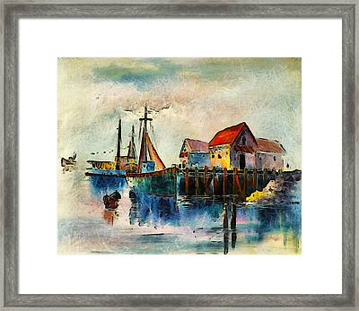 Sitting By The Dock In The Bay Framed Print
