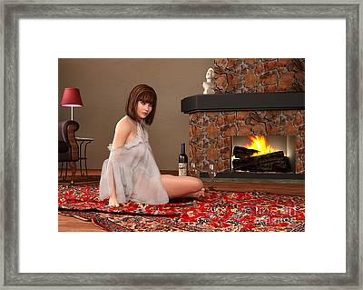 Sitting By The Fire Framed Print