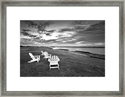 Sitting By The Green Framed Print