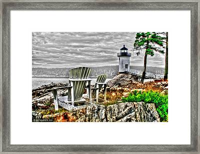 Sitting By The Light Framed Print