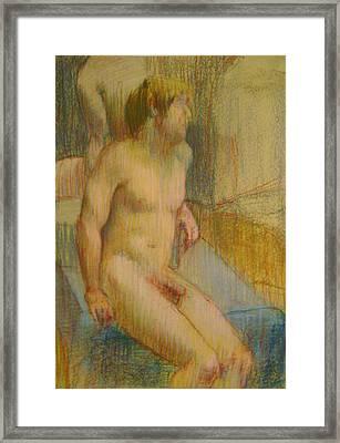 Sitting Framed Print by Cynthia Harvey