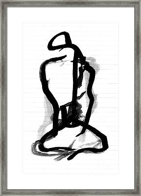 Sitting Figure Framed Print by Christine Perry