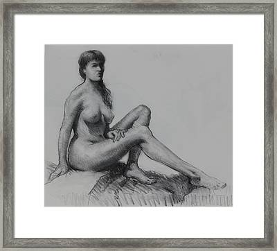 Sitting Figure Framed Print by Ernest Principato