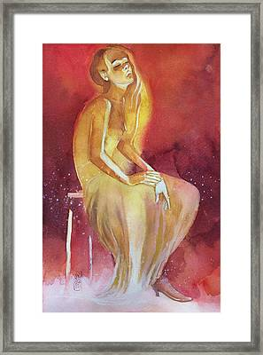 Sitting Girl Framed Print by Alessandro Andreuccetti