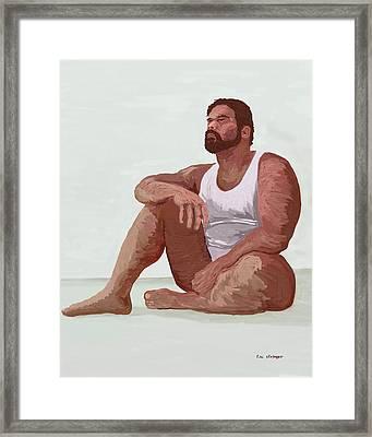 Sitting Man Framed Print by Tim Stringer