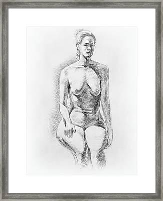 Sitting Model Study Framed Print