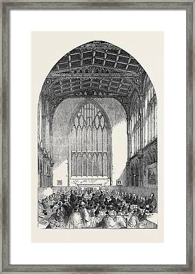 Sitting Of The Synod Framed Print