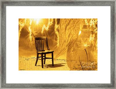 Sitting On Edge Framed Print