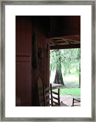 Framed Print featuring the photograph Sitting On The Back Porch by John Glass
