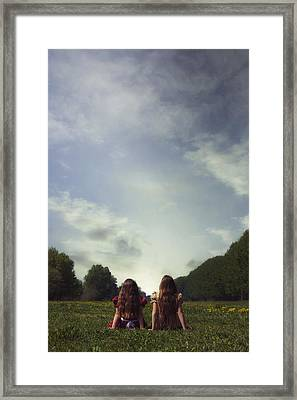 Sitting On The Meadow Framed Print