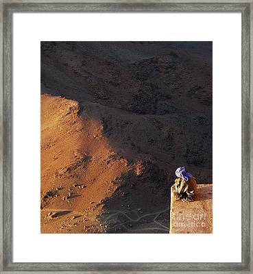 Sitting On Top Of The World Framed Print