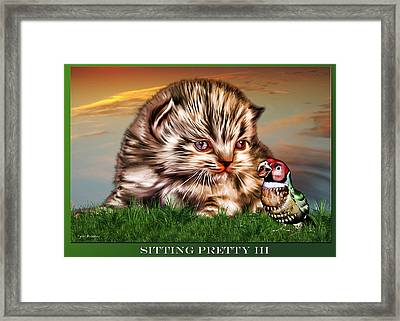 Sitting Pretty 3 Framed Print by Tyler Robbins
