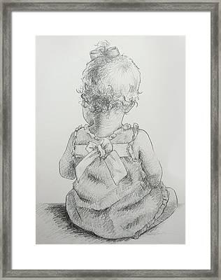 Sitting Pretty Framed Print by Kelley Smith