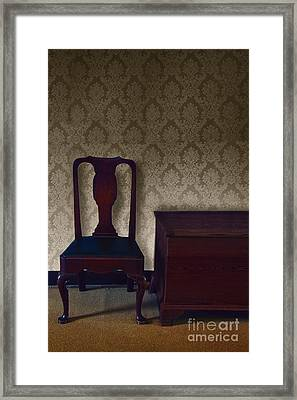 Sitting Room At Dusk Framed Print by Margie Hurwich