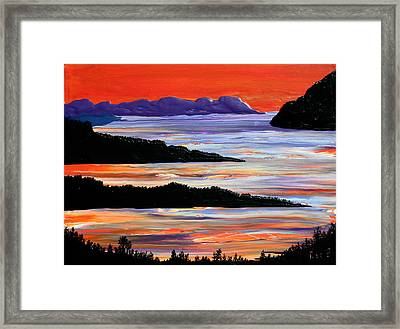 Sitting Seaside Framed Print by Ric Bascobert