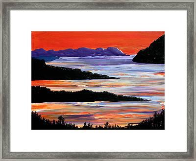 Sitting Seaside Framed Print