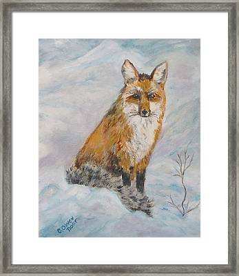 Sitting Sly Framed Print by Caroline Owen-Doar