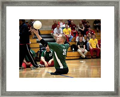 Sitting Volleyball Framed Print by Us Air Force/mark Fayloga