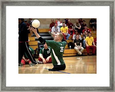 Sitting Volleyball Framed Print