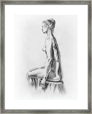Sitting Woman Study Framed Print by Irina Sztukowski