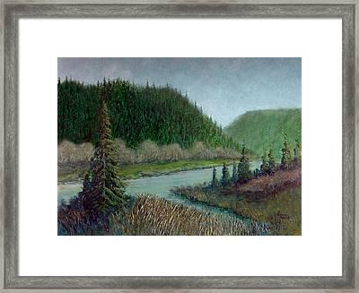 Siuslaw Landscape Framed Print